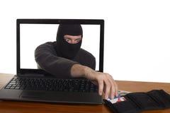 Internet-Diebstahl Stockbild