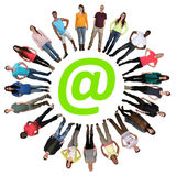 Internet digital generation group of young people online Royalty Free Stock Image