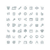 Internet digital marketing, E-commerce line vector icons for your business Royalty Free Stock Photography