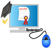 Internet diploma Stock Photo