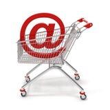 Internet do carro de compra Imagens de Stock