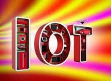 Internet do conceito das coisas para os aparelhos eletrodomésticos Imagem de Stock Royalty Free