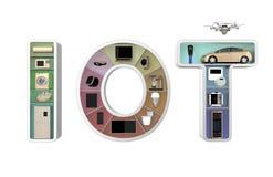 Internet do conceito das coisas para os aparelhos eletrodomésticos Foto de Stock