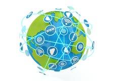 Internet do globo Imagens de Stock