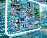 Internet do planeta Foto de Stock