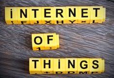 Internet do sinal das coisas Imagem de Stock Royalty Free