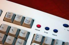 Internet do teclado imagem de stock