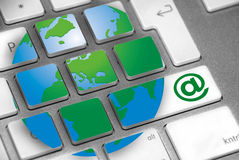 Internet do teclado Fotos de Stock Royalty Free