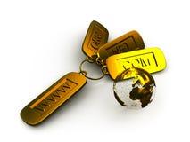 Internet domain 3d golden concept. Hi quality 4000x3000 pixels Royalty Free Stock Photo