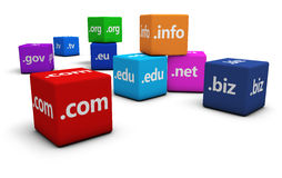 Internet Domain Name Concept Royalty Free Stock Images