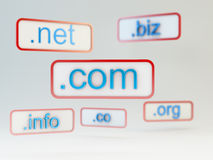 Internet domain names Royalty Free Stock Photography
