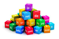 Internet and domain names concept vector illustration