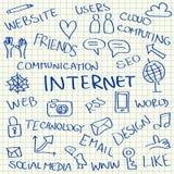 Internet doodles royalty free illustration