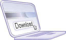 Internet downloading Stock Photo