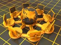 Internet du concept 3d Photographie stock