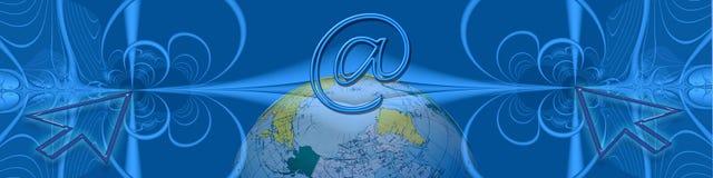 Internet e alvos mundiais Foto de Stock