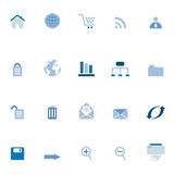 Internet, e-commerce, web icons Stock Photography