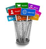 Internet e conceito social dos media Fotografia de Stock