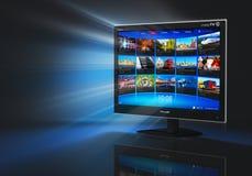 Internet e concetto di telecomunicazione Immagini Stock