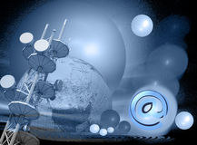 Internet e expansão Imagens de Stock
