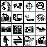 Internet e iconos computacionales Imágenes de archivo libres de regalías