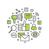 Internet E-Mail or Mobile Notifications and Offer Marketing and Social Campaign. Royalty Free Stock Image