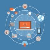 Internet e reti royalty illustrazione gratis