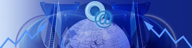 Internet e sucesso crescente Imagens de Stock Royalty Free