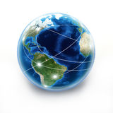 Internet Earth globe Stock Photo