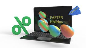 Internet easter feast reductions concept, 3d rendering. Internet easter feast reductions concept, 3d render Stock Image