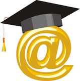Internet education Stock Image