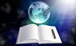 The Internet education. Network concept Stock Photography