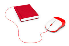 Internet education. Book and computer mouse. On a white background Royalty Free Stock Image
