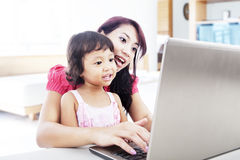 Internet education for child Royalty Free Stock Photos