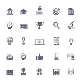 Internet education icons Stock Photography