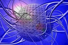 Internet, een labyrint. stock illustratie