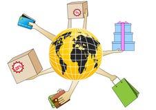 Internet-Einkaufen Lizenzfreie Stockbilder