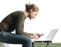 Internet-Einkaufen Lizenzfreies Stockfoto
