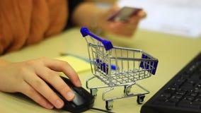 Internet-Einkaufen stock footage