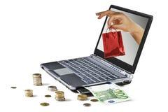 Internet-Einkaufen Lizenzfreies Stockbild