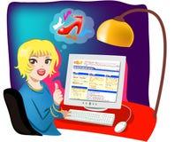 Internet-Einkaufen Online Lizenzfreie Stockfotografie