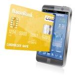 Internet-Einkaufen und elektronische Zahlungs-Konzept Lizenzfreie Stockbilder