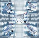Internet-Einkaufen-Zusammensetzung Lizenzfreie Stockfotos