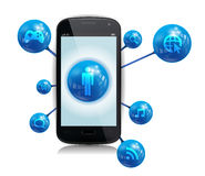 Internet elegante Apps del teléfono stock de ilustración