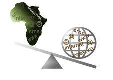 Internet em África ilustração do vetor