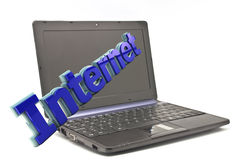 Internet em 3d Foto de Stock Royalty Free