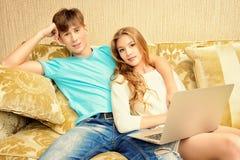 Internet em casa Foto de Stock Royalty Free