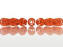 Internet email multimple sign. With orange color royalty free illustration