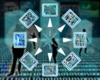 Internet en high-tech royalty-vrije illustratie