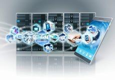 Internet en informatietechnologie royalty-vrije illustratie